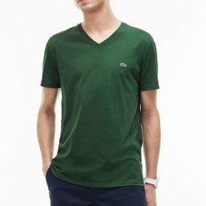LACOSTE I V-Neck Pima Cotton Jersey T-Shirt